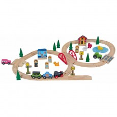 Wooden Trainset (51 pcs)