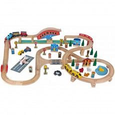 Wooden Trainset (80 pcs)