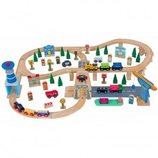 Wooden Trainset (92 pcs)