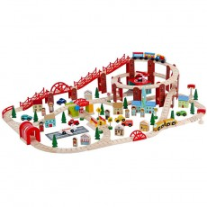 Wooden Trainset (126 pcs)