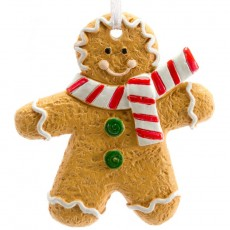 Christmas tree decoration (2 pcs, gingerbread man)