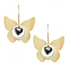 Butterfly With Heart Door Decoration - Spring Decoration