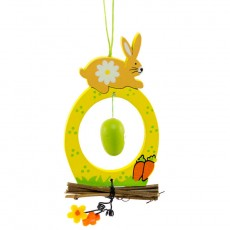 Egg Window Decoration With Rabbit - Easter Decoration